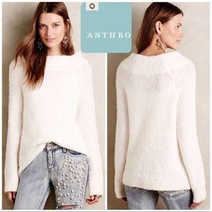 Anthropologie Moth Brand Ivory Mock Neck Sweater M